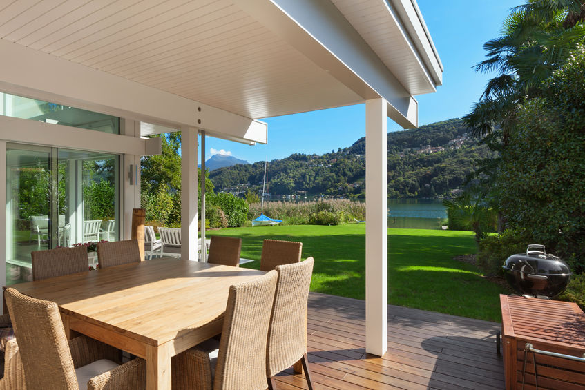beautiful veranda with furniture